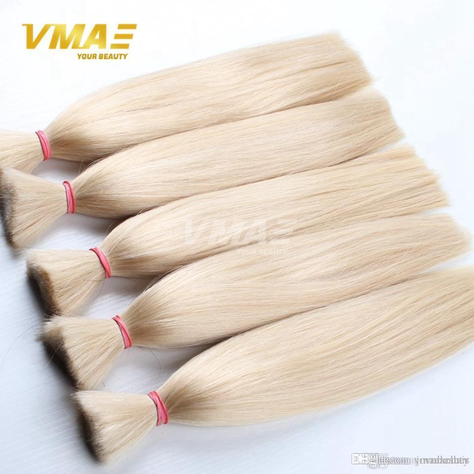 Brazilian VMAE Hair Top Quality Hair Bulk Brazilian Virgin Braiding Hair Extension No Weft 3pcs Per Lot 100% Human Hairpiece