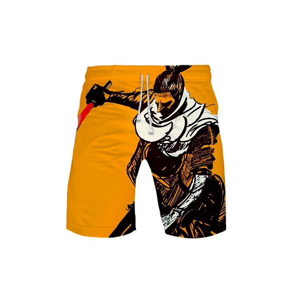 3D dos homens SEKIRO: Sombras Die Twice Board Shorts Troncos 2018 Verão Novo Quick Dry Praia Shorts Homens Hip Hop Calças Curtas Desgaste da Praia