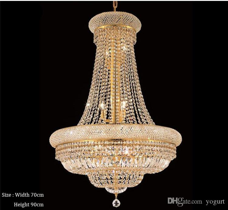 French Empire Gold Crystal Chandelier Chrome Chandeliers Lighting Modern Chandeliers Light Chandelier Online Chandelier From Yogurt 329 17
