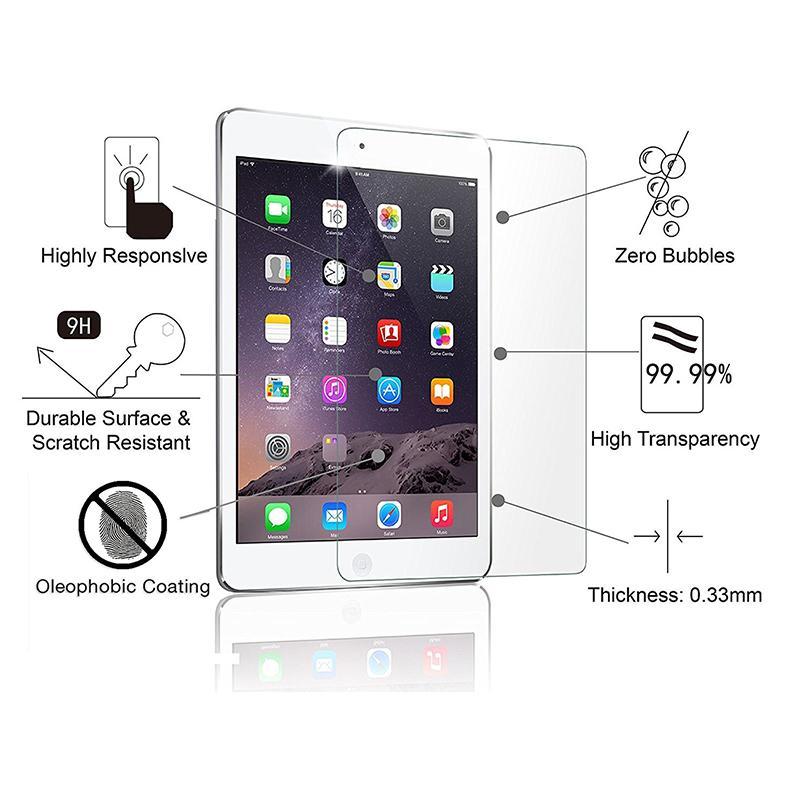 2.5D 9H ipad 미니 3 4 5 공기 프로 11 9.7 2017 2018 / 소매 포장을위한 강화 유리 화면 보호 필름