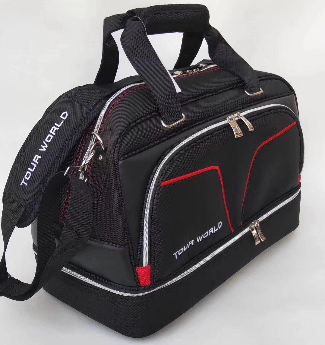HONMA جولف بوسطن حقيبة جولف الملابس حقيبة أحذية حقيبة سوداء اللون