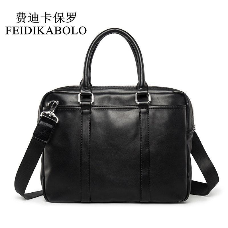 Fedikabolo célèbre marque affaires hommes porte-casque sac homme sac à bandoulière cuir ordinateur portable simple mâle sac à main bolsa maléta