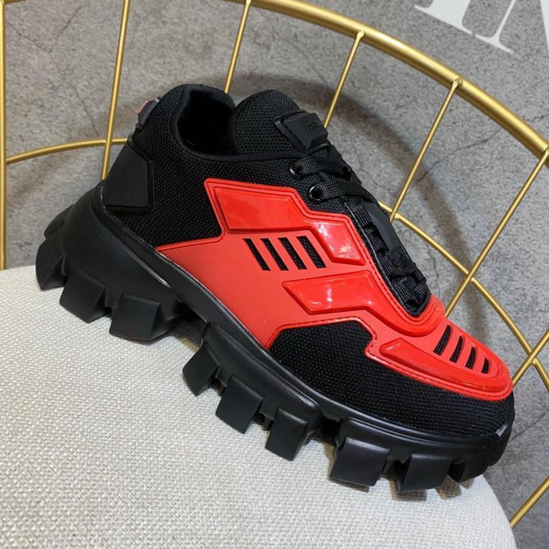 Cloudbust Thunder Knit progettista del Mens di lusso Scarpe donna classiche scarpe casuali superiore tessuto Gomma formatori Outdoor Sneakers c16