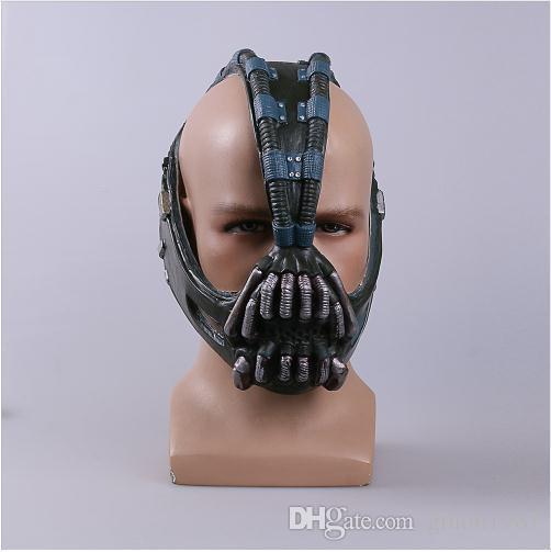 Çünkü Bane Maskeleri Batman Film Cosplay The Dark Knight Cadılar Bayramı için Lateks Maske Fullhead Nefes Sahne