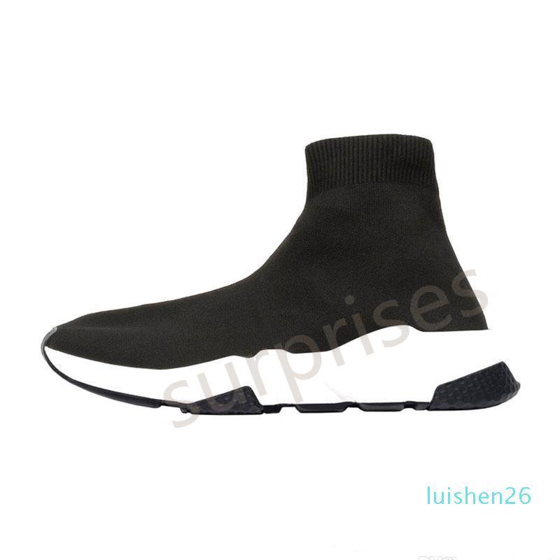 concepteur femmes Chaussures formateur Speed Bule noir blanc rouge plat Mode Hommes Chaussettes mode Sneakers Baskets Chaussures Casual L26