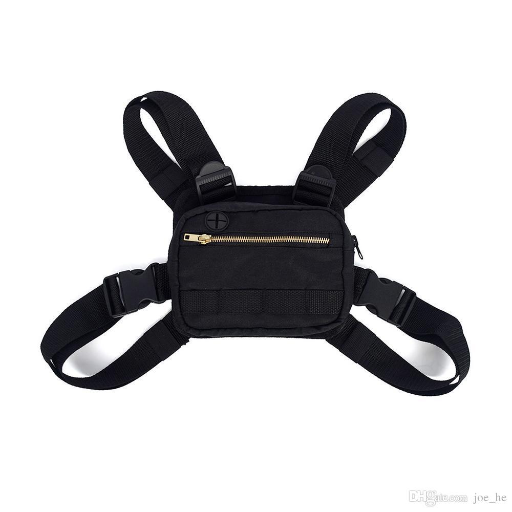 Designer-2019 Mini Men Chest Rig Street Outdoor Sports Hüfttasche Climbing Schultertasche Telefon Geldgürtel Tactical Chest