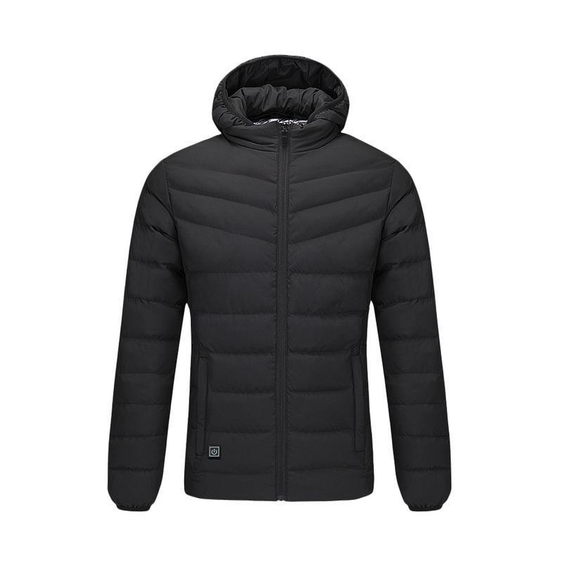 2018 야외 전기 난방 재킷 남성 여성 깃털 아래면 가열 코트 겨울 열 따뜻한 후드 의류 방풍