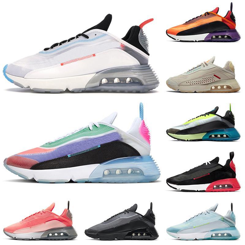 2090 BE TRUE Men Womens Running Shoes ALL Black Praia Grande Magma Orange Pure Platinum Aurora Green Mens Womens Sports Sneakers Trainers