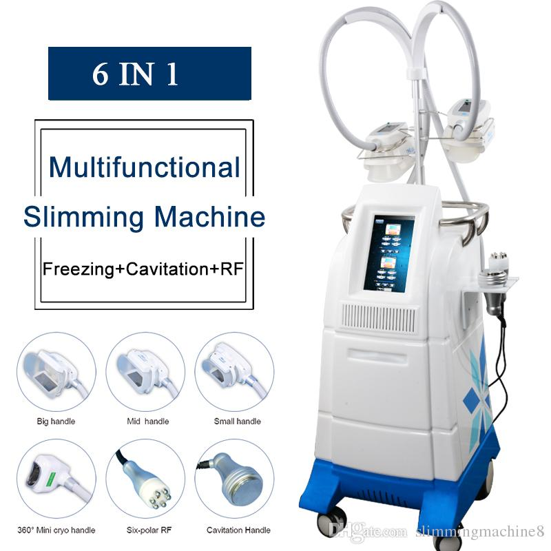 CE Fat freezing machine ultrasonic cavitation rf slimming body fat removal 4 fat freezing handles work together