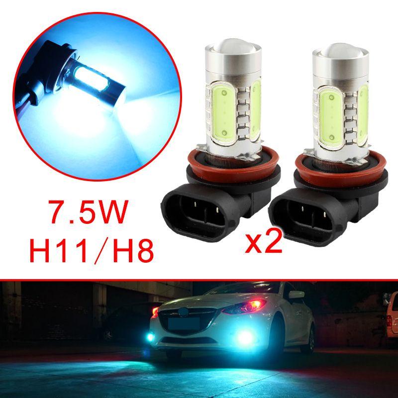 Coche H8 H11 hielo azul de la lámpara Accesorios Estilo en forma para Foglight la luz de niebla de conducción lente del proyector LED Bombillas DRL Piezas