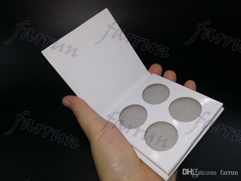 DIY 4 color hole eyeshadow black&white palette 122 color choice 50 glitter 42 matte 30 shimmer accept your logo print