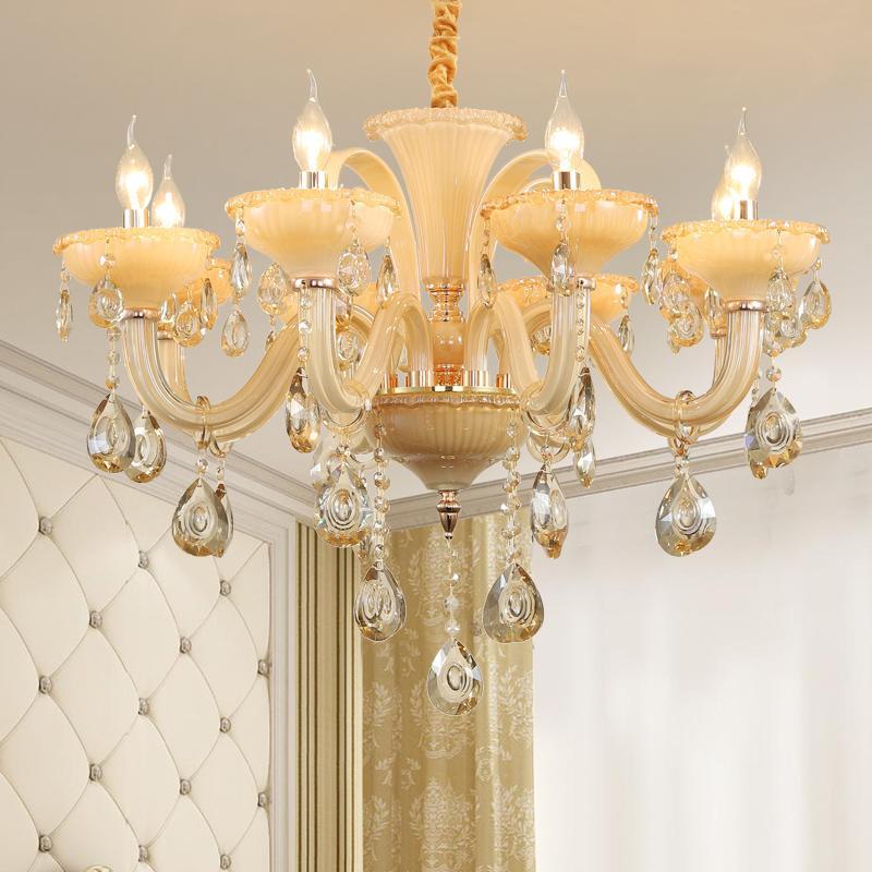 الحديث LED سقف الثريا مصباح غرفة المعيشة غرفة الطعام الفاخرة الثريا K9 كريستال داخلي سقف المنزل تعليق امب