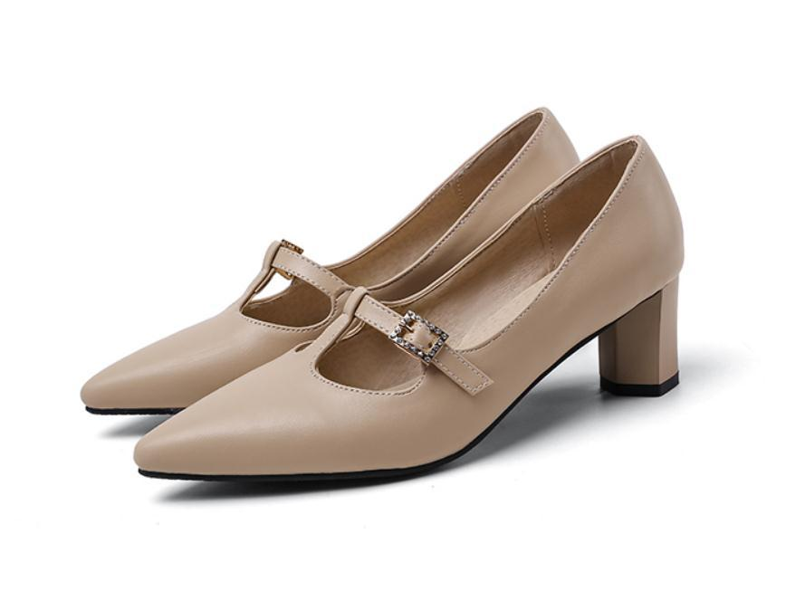 2020 весной и осенью с обувью Новый стиль моды Высокий каблук Грубый пятки заостренный конец женщин в @ ZX6