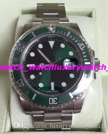 럭셔리 시계 최고 품질 아시아 2813 기계식 40mm 116610 세라믹 녹색 다이얼 / 베젤 새로운 스타일 자동 패션 남자 '시계