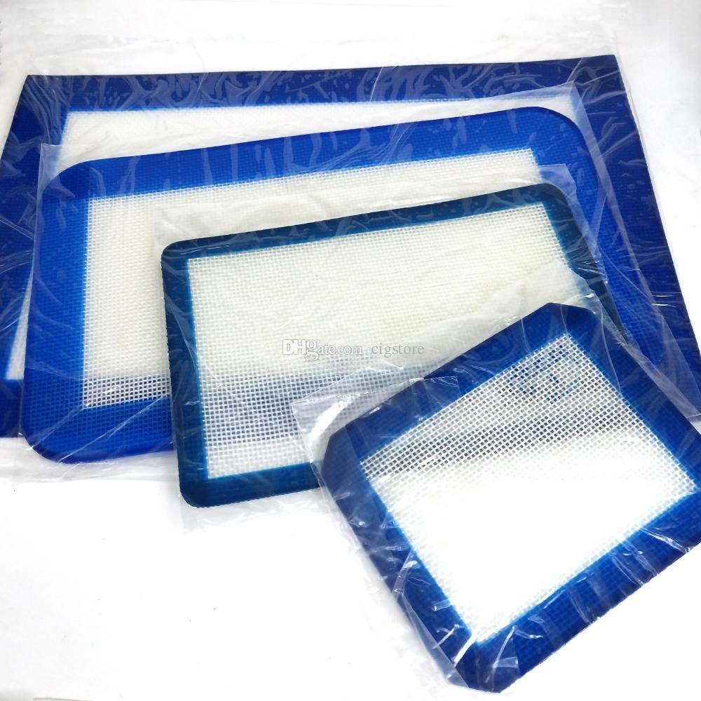 4 boyutu Silikon Paspas Pişirme Astar iyi Silikon Fırın Mat Isı Yalıtımı Tampon Bakeware çocuk Masa Mat balmumu sigara su borusu