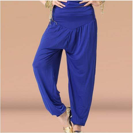 New belly dance costumes senior sexy milk silk belly dance pants for women lantern trousers