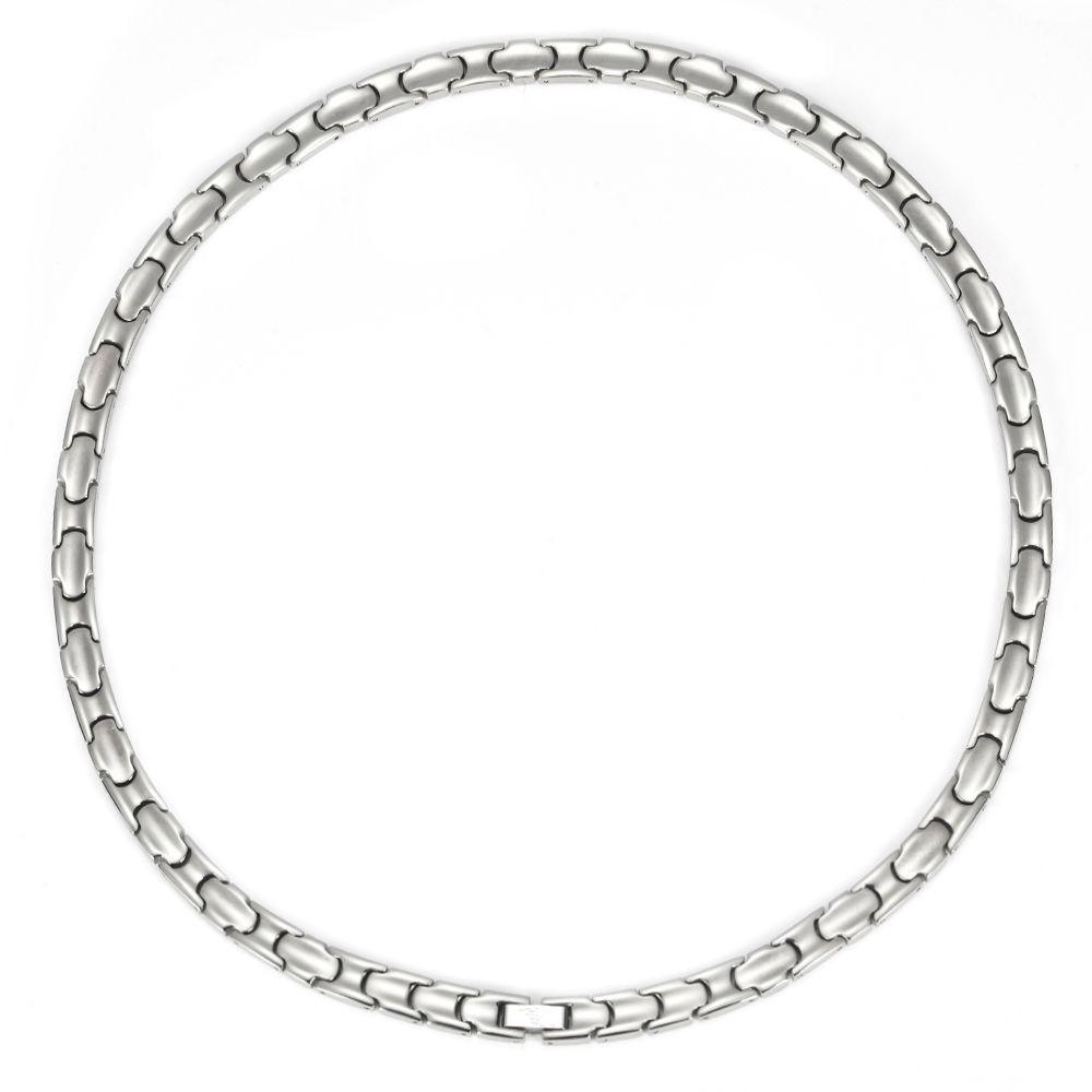 Colar magnética de titânio com 36pcs ímãs unissex homens mulheres (54cm / 8mm)