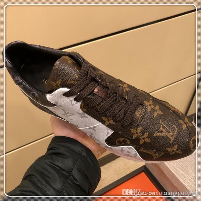 Uomini di alta qualità scarpe stringate Top Luxury piattaforme Moda Uomo scarpe da tennis degli appartamenti d'epoca della nave di goccia di marca calza il formato 38-45