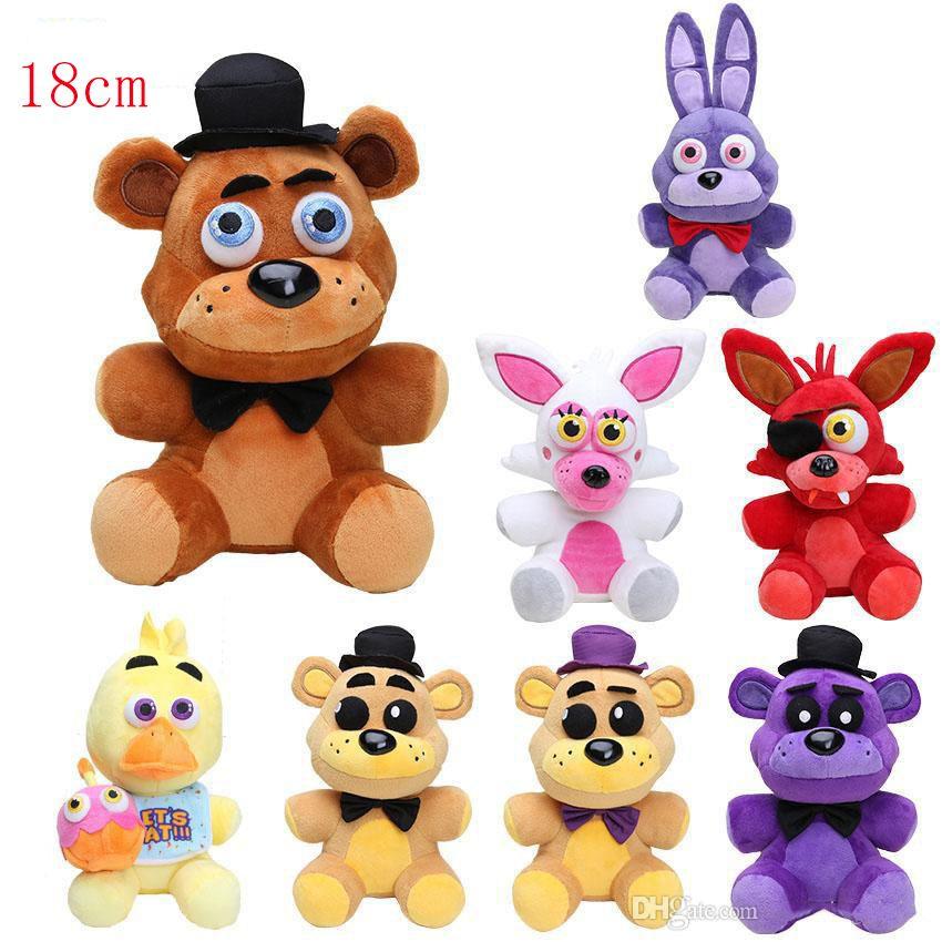 18cm Five Nights At Freddy FNAF Dolls & Stuffed Toys Golden Freddy fazbear Mangle foxy bear Bonnie Chica Plush Doll