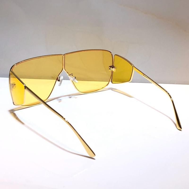 708 Lentes de sol para los hombres cuadrado de la manera de las mujeres gafas de marco de 0708 máscara de gafas de sol del verano del estilo Capa de la lente de fibra de carbono con la caja