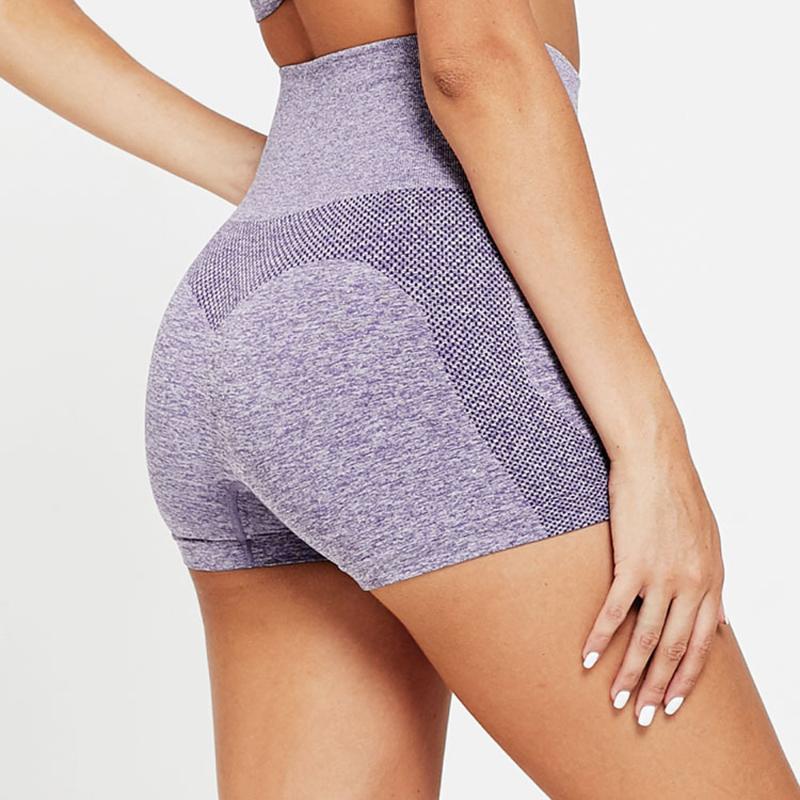 Women Yoga Shorts Seamless High Elasticity High Waist Sports Shorts Hips Square Fitness Workout Sexy Sportswear