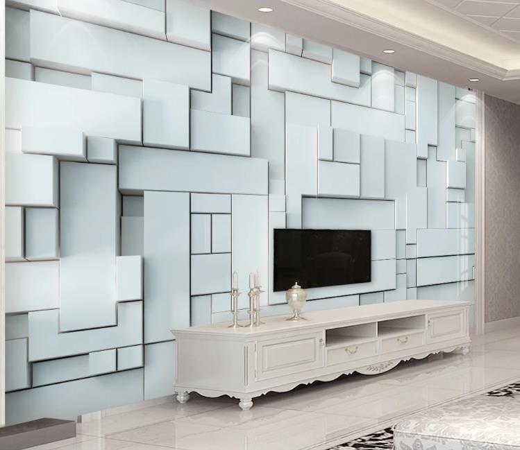 abstracción 3D mural del papel pintado nórdica fresca tridimensional de la sala de TV Dormitorio Decoración de fondo personalizado pintura