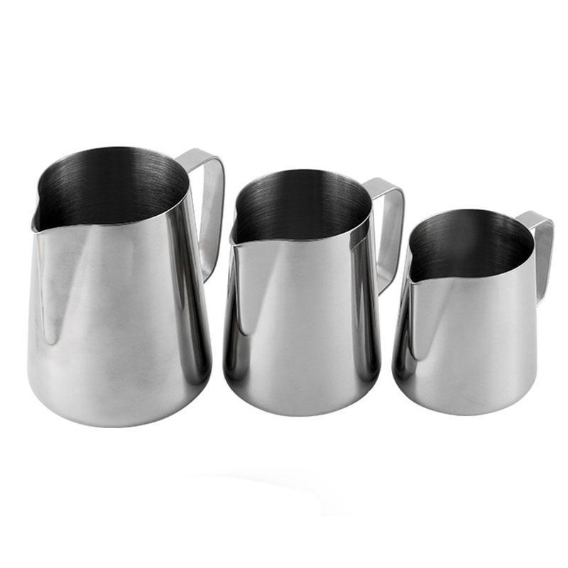 Vários aço inoxidável puxe a ferramenta Flor Frothing Garland leite Cappuccino Cozinhar Ferramentas espresso Formadores de espuma Latte