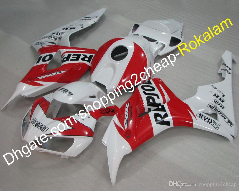 Для Honda Caplings 06 07 2006 2007 CBR1000RR CBR 1000 1000RR RR Sport Moto Red White Flateing (литье под давлением)