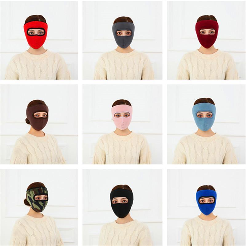 Designer Gaze Masque Hot Style de masque d'oreille vélo Anti-froid respirant de haute qualité d'hiver en polaire chaud et épaissi Deux en un Masques INS