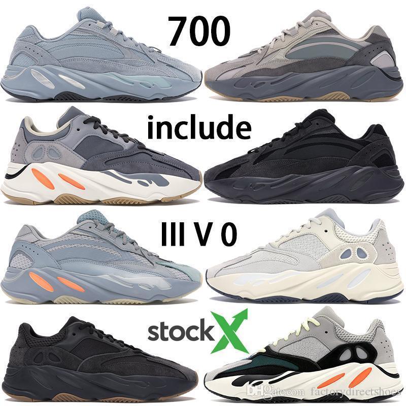 Новый Kanye West 700 V2 Hostpictal Синего Yecheil Reclective Ешая Citrin Облако Белого Черный Статических кроссовок женщин мужчин дизайнерских кроссовки