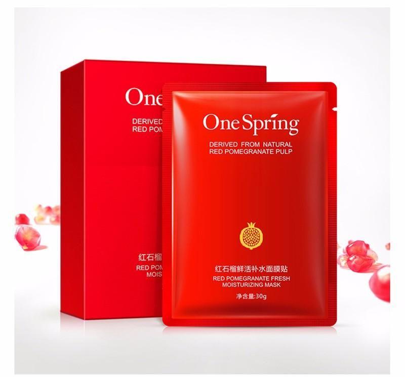 10 pcs OneSpring Rouge Grenade Masque Facial Tony Moly Hydratant Masque De Blanchiment Coréen Beauté Masques pour Visage Masque Soins De La Peau