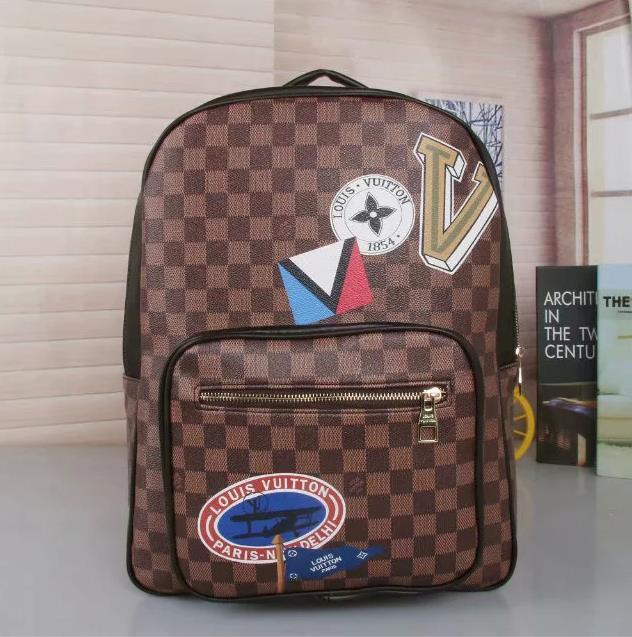 2020 Designers Backpack Mens Luxury Backpack hot Brand Double Shoulder Bags Male Brand School Bags Leather Shoulder Bag A06 #