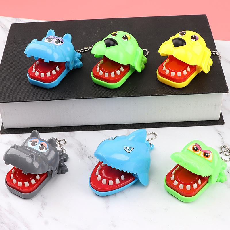 القرش ألعاب الطرافة دغة فنجر لعبة StopStress الحيوان التمساح فرس النهر الكلب لعب اطفال مضحك الكمامات النكات العملية الفم دغة فنجر