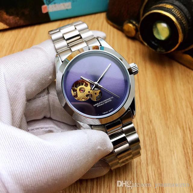 2020 горячей продажи моды 41 мм из нержавеющей стали, автоматическое движение механические часы мужские часы турбийон часы
