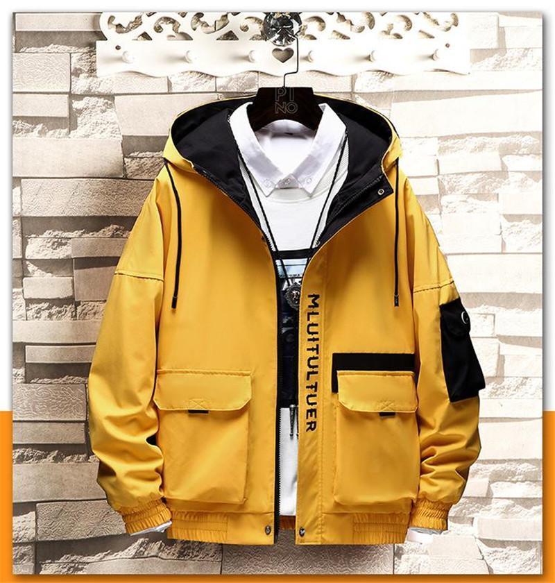 Taille Manteau Casual Mens Slim-vêtement Hommes Designer Jacket Fashion imprimé plus