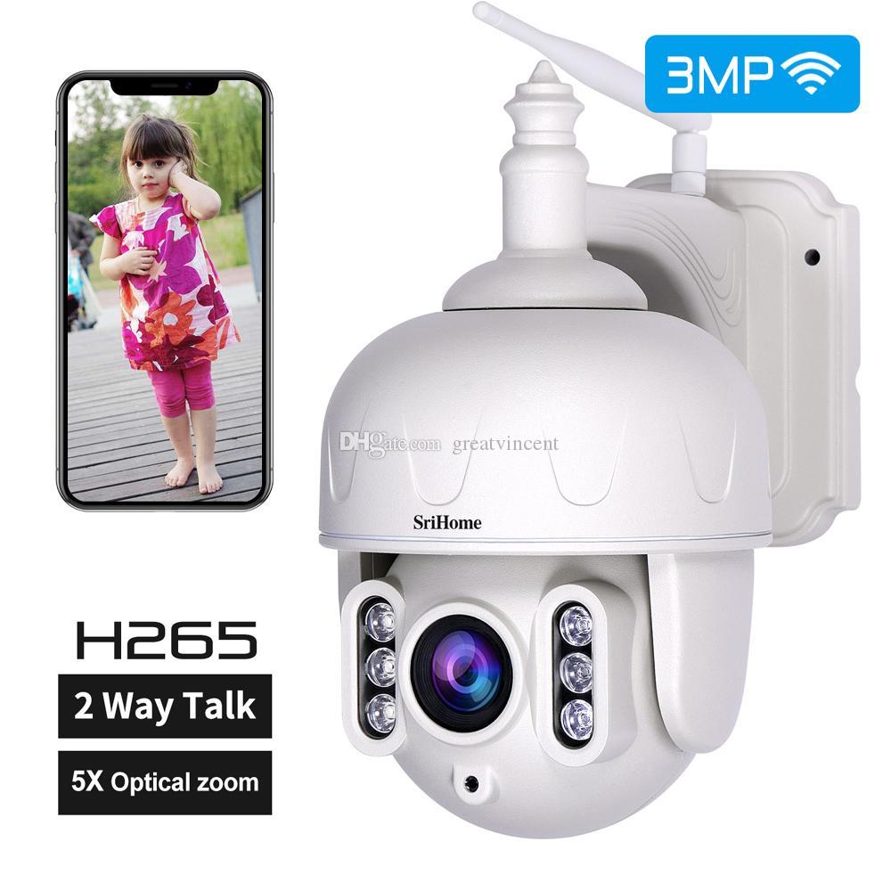 Sricam SH028 3.0MP IP камера наружного Водонепроницаемый 5X оптический зум Wifi камеры 360 ° P2P 2-Way Audio Беспроводной видеонаблюдения CCTV PTZ