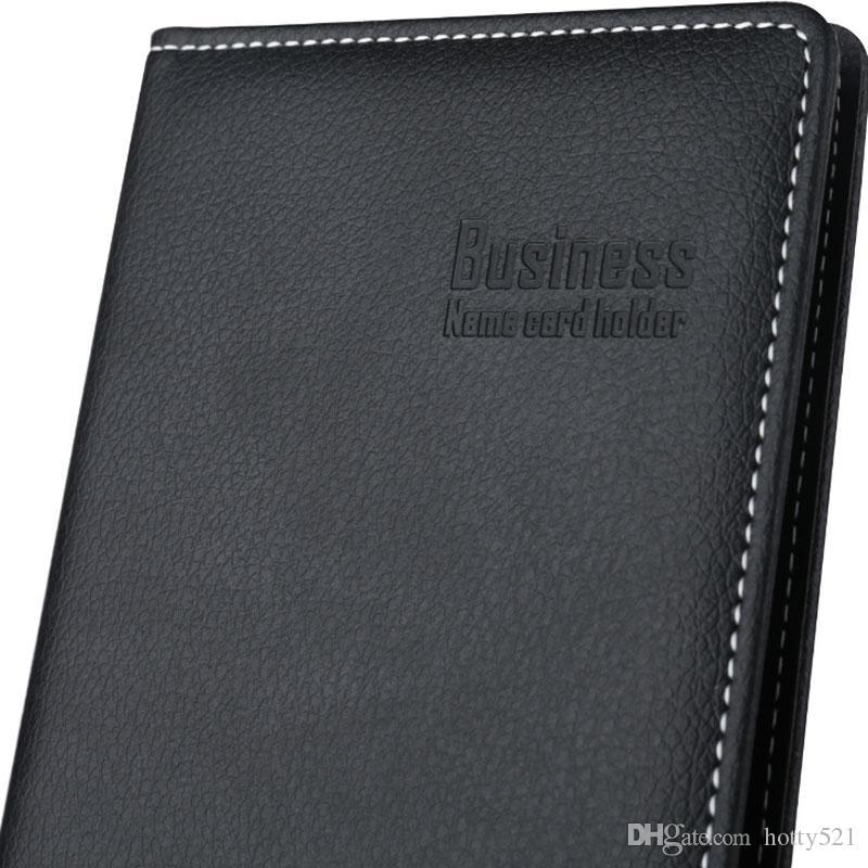 Großhandel Heißer Verkauf 120 Blatt Büroname Id Bank Kreditkarten Finanzen Versicherung Pu Leder Halter Buch Fall Visitenkarte Dateien Von Hotty521