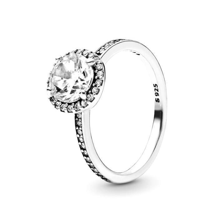 Jóias 925 Prata Anéis Pandora anel de noivado casamento para as mulheres