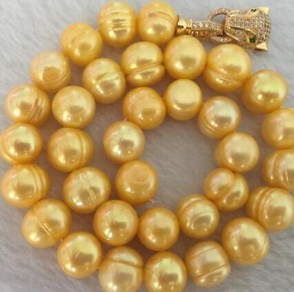 великолепная 10-11 мм Южного моря барокко белый жемчуг ожерелье 18 дюймов