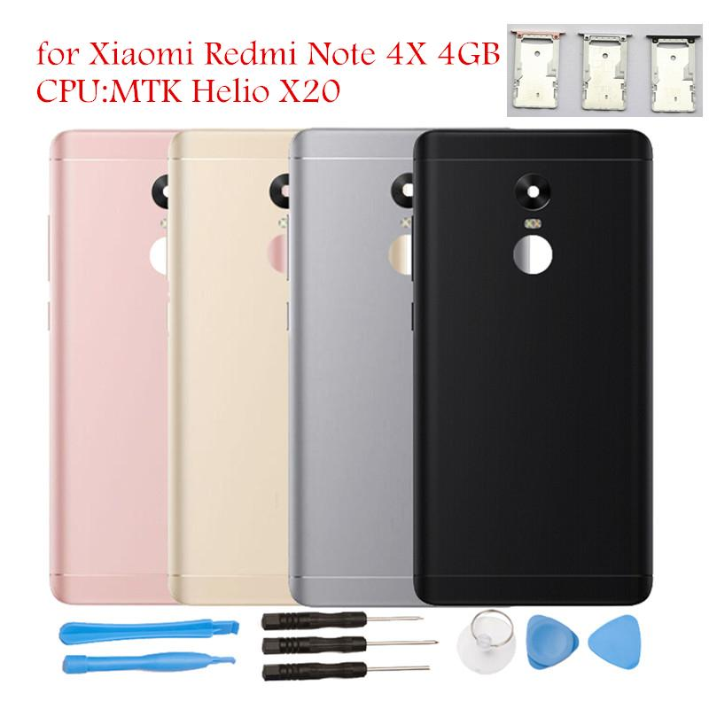 for Xiaomi Redmi Note 4X 4GB MTK Helio X20 Battery Back Cover Rear Cover Housing Door Card Tray Holder Camera Glass Repair Parts