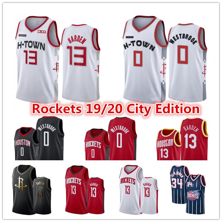 2020 23 Men S Houston Rocket Nba Jersey James 13 Harden Russell 0
