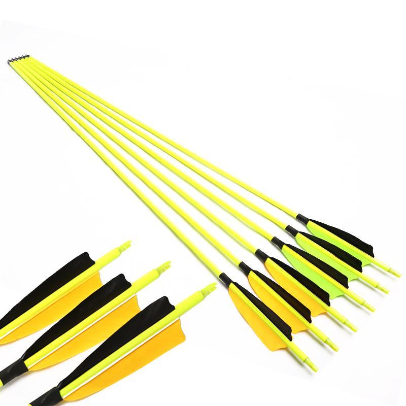"Linkboy Archery Sp600 Fletching Turkey Feather 30"" Carbon Arrows Shaft Recurve compound Bow Hunting"