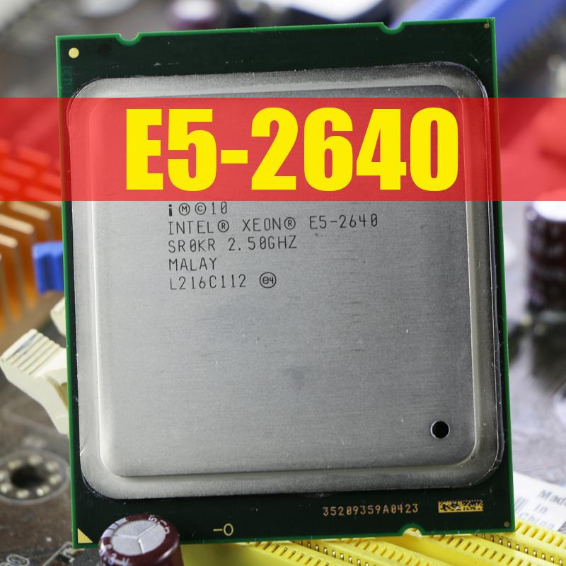 Intel Xeon E5-2640 Processor E5 2640 95W Six Core C2 Desktop Processor CPU 2.5GHz LGA 2011 Tested 100/% Working