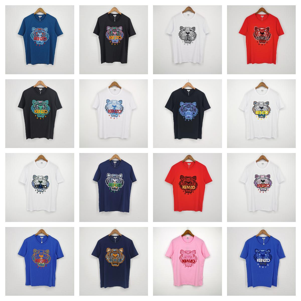 2020 بالجملة العلامة التجارية قميص مصمم النساء الرجال النمر تي شيرت عارضة الازياء لربيع وصيف تيز عالية الجودة التي شيرت 88 20032801W