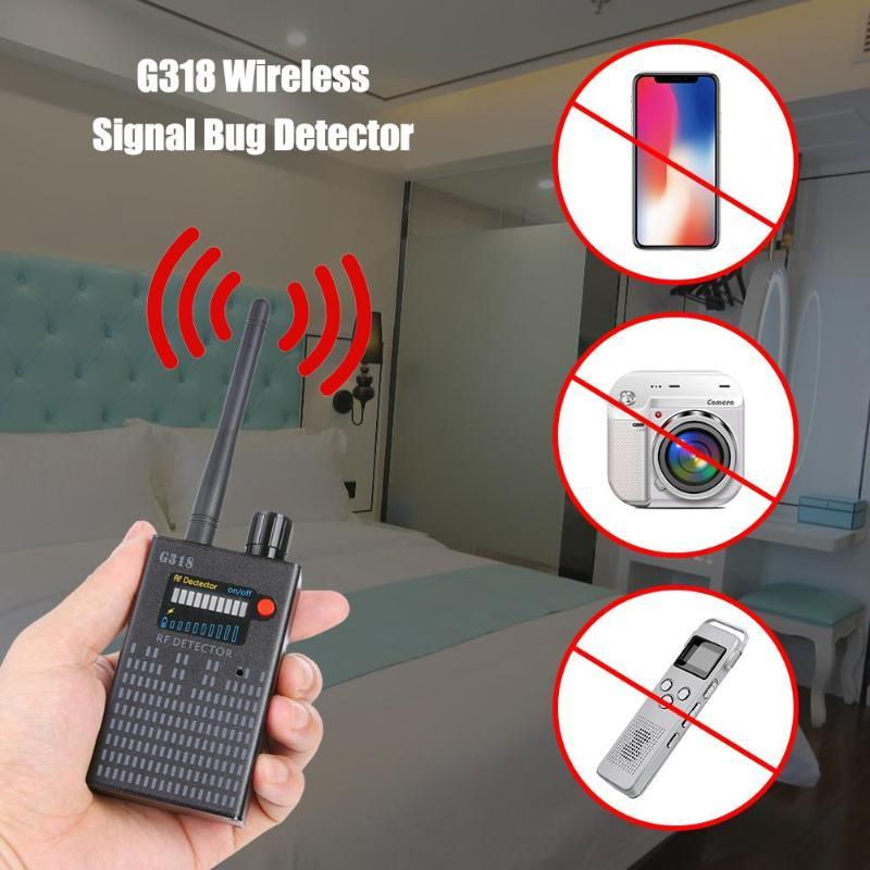 G318 Wireless Signal Bug Detector Anti Bug Camera Detector GPS Location Detect Finder Tracker Frequency Scan Sweeper Protect Security