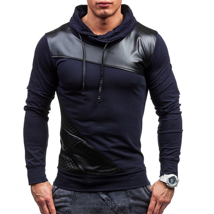 Мода-весна мужчины борьба кожа толстовка мода повседневная высокое качество ультратонкий подросток с капюшоном куртка 3-Цвет S-2XL