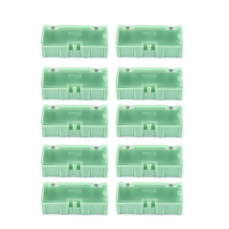 Caixa de armazenamento 1pc / 10pcs pequena ferramenta objeto parafuso de componentes eletrônicos Peças Lab Caso SMT SMD automaticamente aparece remendo Container