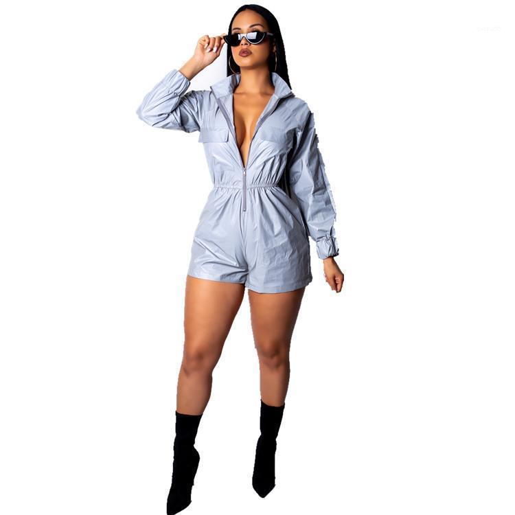 Pantalon Fashion Designer Casual Vêtements Femmes Mode Reflective couleur Shorts Tenues sexy en vrac Zipper Pièce fraîche