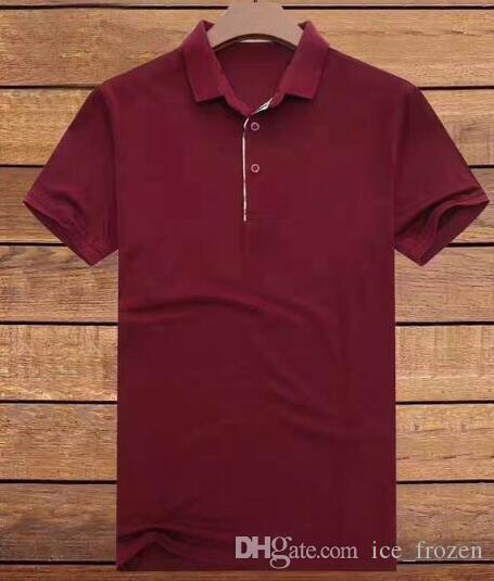 2020 Polo Londra Maglietta a maniche corte estiva Homme Abbigliamento casual t-shirt 100% cotone Inghilterra modo di alta qualità Tops Red