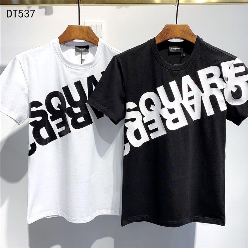 2020 SS nueva llegada de las camisetas de calidad superior D2 Ropa de Hombre Imprimir camisetas de manga corta M-3XL DT537